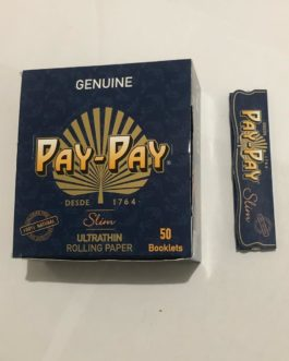 Caixa de Seda Pay Pay Slim Azul Genuine King Size